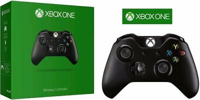 Microsoft XBOX ONE & S Video Game Wireless Controller BLACK Brand New CA Stock