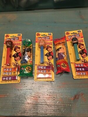 lot Of 5 Pez Emergency Heroes - 3 on cards, Rare African American Fireman
