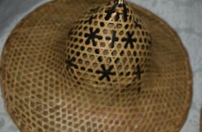 Pair of AUTHENTIC Vintage Bamboo Hats  Ships free!