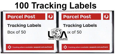 100 x Australia Post Tracking Labels 100 (2 Boxes) Free Postage