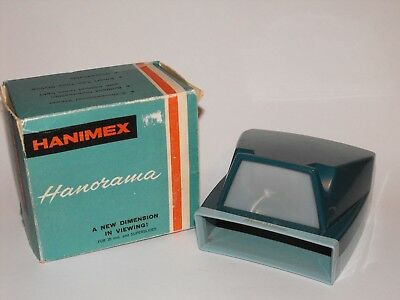Vintage HANORAMA by Hanimex Slide Viewer Retro in Box + Slide Containers