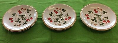 "Vintage Sheffield Strawberries 'n Cream 10.5""  Dinner Plates Set of 6 Stoneware"