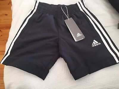 Brand New With Tags Boys 3S Wv adidas Carbon Shorts Size 7-8 Yrs