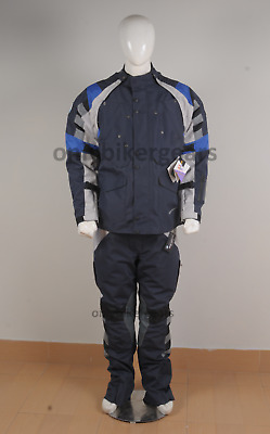 Bmw Rallye 4 Blue/Grey 2015 Motorcycle Touring Off Road Textile Suit (All Sizes)