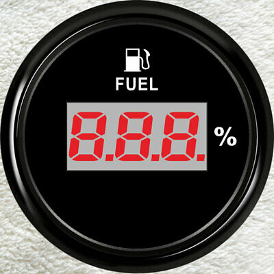 Car Digital Fuel Level Gauge,0-90ohms  E-F,Oil Tank Level,2''/52mm ,Universal