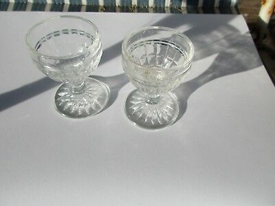 Vintage glass Egg Cups
