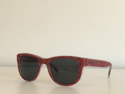 775ad846c8c 13 Dolce   Gabbana DG 4284 3054 87 Round Red Floral Gray Sunglasses 54