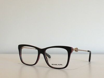 d911e5b35b12 130 Michael Kors MK 8022 3132 Abela IV Rectangle Havana Eyeglasses 52*16*135