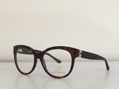 ce17f32775d18 3 Tory Burch TY 2072 1378 Round Havana Gold Eyeglasses Optical Frame 53 17