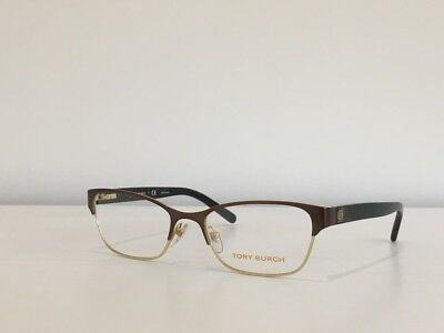 a35999cf8550 75 Tory Burch TY 1040 3032 Rectangle Brown Gold Eyeglasses Frame 53*18*135