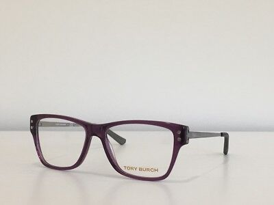 5469c4ce0ed 76 Tory Burch TY 2036 931 Rectangle Purple Silver Eyeglasses Frame 52 15 135