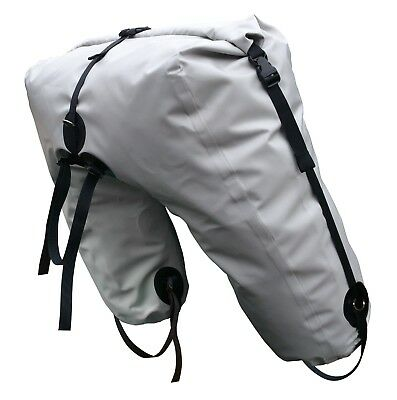 Motorcycle Saddlebag Roll Top System Motosector 95 Grey