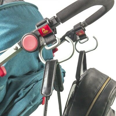 Baby Stroller Pram Pushchair Bag Hooks Hanger Bags Clip Heavy Duty Safety Strap