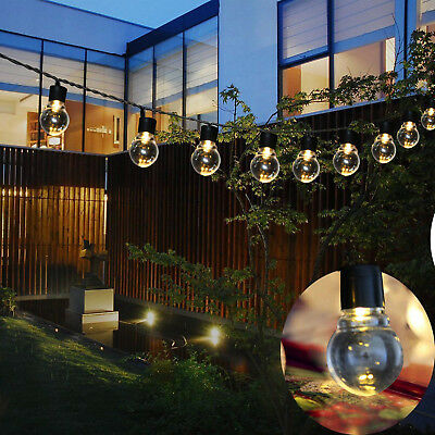 Solar String Lights Outdoor Patio Party Home Yard Garden 10 LED Waterproof Bulbs