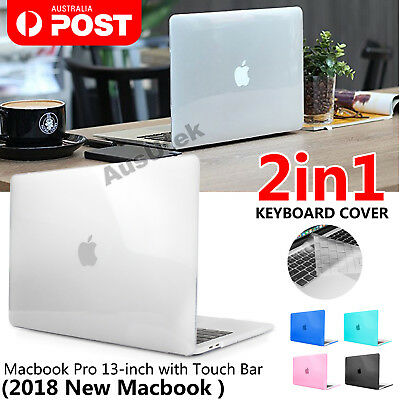 "MacBook Pro 13"" 15"" Case 2018 2016 TouchBar A1990/A1989/A1706 + Keyboard Cover"