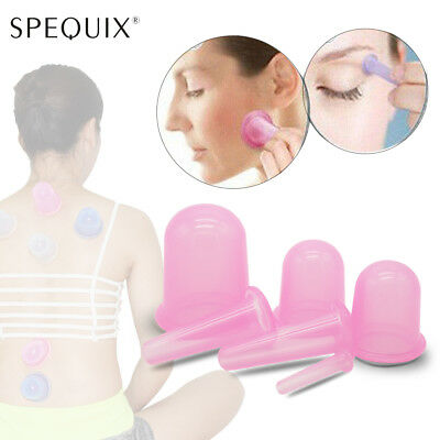 2018 Design Anti Cellulite Silicone Massage Cup Vacuum Therapy Cupping Body&Face