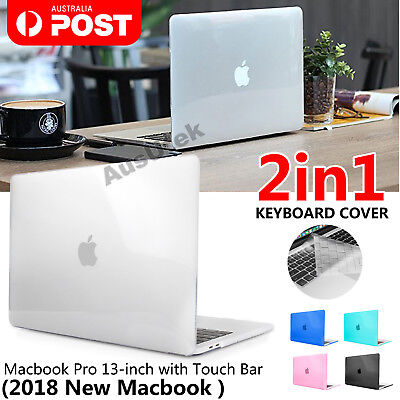 For Apple MacBook Pro Touch Bar 2018 A1990/A1989 Slim Hard Case Keyboard Cover