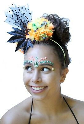 Pom Pom Crown Headband Festival Crown Wedding Fascinator Boho Headdress