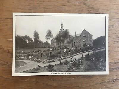 RARE 1900's CENTRAL SCHOOL BENDIGO REAL PHOTO POSTCARD GOLD RUSH MINING