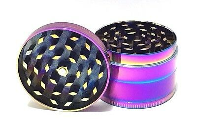 4 Layer 50mm Rainbow Grinder Dazzle Color Metal Herb Crusher Zinc Alloy