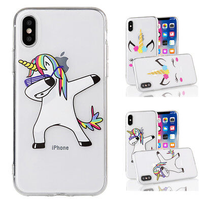 Mode Design Licorne Coque Antichoc Doux Souple Durable Ultra Slim Mince Flexible
