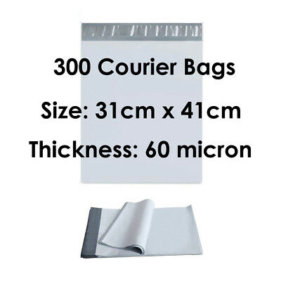 300 Poly Mailer 310x405mm Premium Courier Bags Self Sealing Mailing Satchel