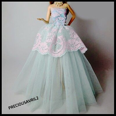 New Barbie doll clothes outfit princess wedding dress gown evening dress.