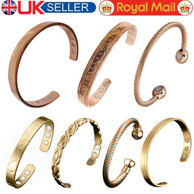 Magnetic Copper Bracelets Bangle Arthritis Migraine Menopause Relief  UK STOCK