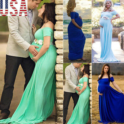 Lace Pregnant Women Maxi Long Dress Maternity Gown Photography Photo Shoot US