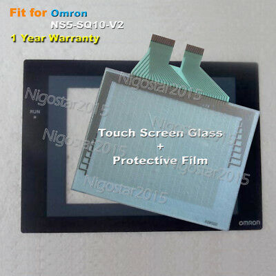 for Omron NS5-SQ10-V2 Touch Screen Glass with Protective Film 1 Year Warranty