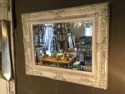 White French Baroque Rococo Antique Style Wall Mounted Mirror
