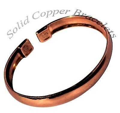 VERY SMALL Mens Or Ladies Magnetic Bracelet Copper Bangle Pain Relief  - MB7VS