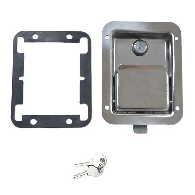 Stainless Door Lock Trailer Toolbox RV Handle Latch & Key14 x 10.8 x 3.8 cm