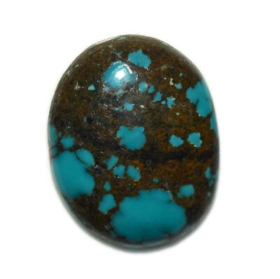 13 Ct Natural Tibet Turquise Oval Shape Cabochon Loose Gemstone HJ_43_54