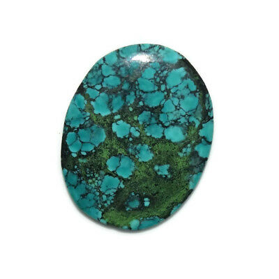 11.7 Ct Natural Tibet Turquise Oval Shape Cabochon Loose Gemstone HJ_43_80
