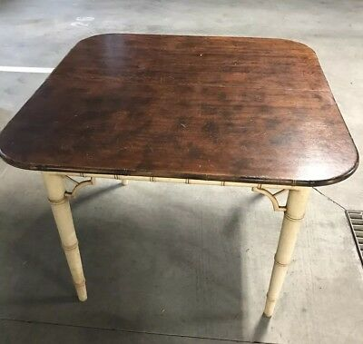 Antique Dining table, extendable with extra leaf. Has a unique organic design
