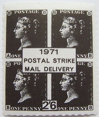 Great Britain - Mini Sheet Penny Black, Postal Strike mail delivery 1971