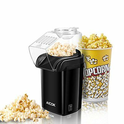 Aicok Machine à Pop Corn, Popcorn Popper à Air Chaud Sans huile, Pop Corn Mac