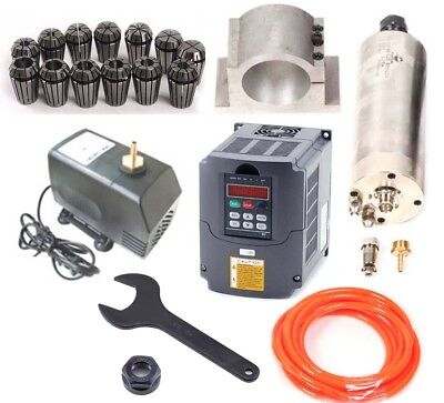 CNC 2.2KW Spindle Motor + Variable Frequency inverter VFD +  Collet + Water-Pump