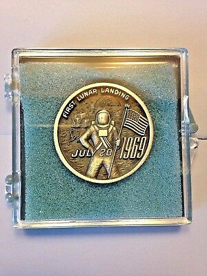 Apollo 11 First Lunar Landing Memorial Medal By L.g. Balfour & Co. July 20, 1969