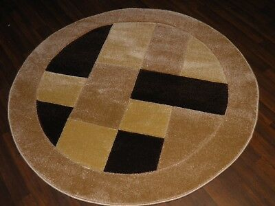 New Great Quality Modern Block Circle Design Soft Luxury Rugs Large Beige Brown