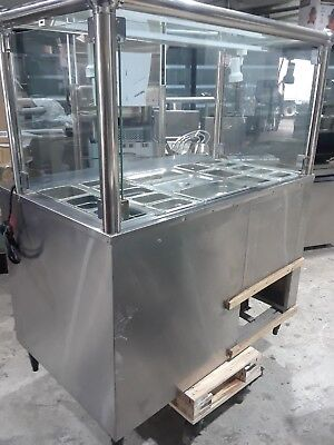 4 FT Salad Bar Wit Sneeze Guard Vol 120 Chrome