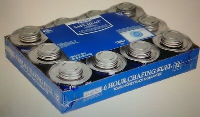 Chafing Dish Fuel Gel Dish Warmer 12 Pack Heat Fire Flame Safe Clean Daily Chef
