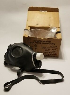 New Israeli Gas Mask w/ Genuine Military Sealed Filter Full Protection NEW