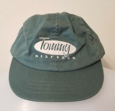 Vintage 90s Tommy Hilfiger Hat Cap Big Logo Spell Out Script Kids Youth VTG e52a7396b9bc