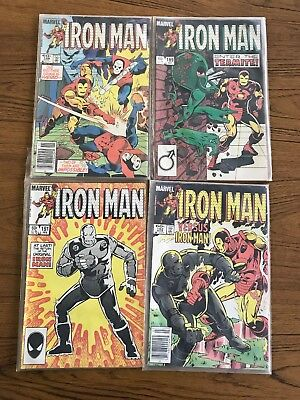 Lot of 4 IRON MAN comics from #188, 189, 191, 192 from 1984.