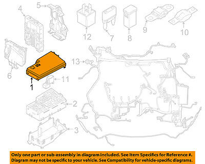 FORD OEM 12-14 Focus 2.0L-L4 Fuse Relay-Top Cover CV6Z14A003AA