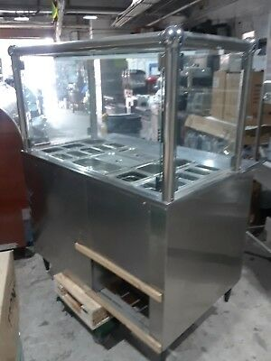 4 Ft Salad Bar Wit Sneeze Guard  Chrome Pipe Style Vol 110