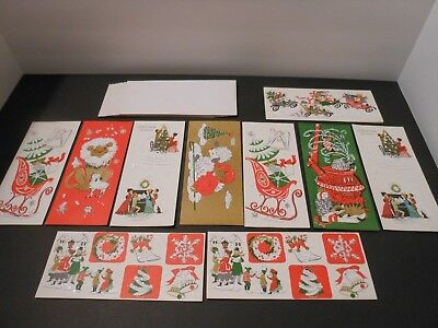 CHRISTMAS Cards Vintage, Collectibles, Holidays, Lot of 10, FREE SHIPPING