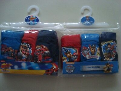 Kids Children's Underwear Pants/Briefs Blaze+Paw Patrol 6 Pairs 18-24 Months